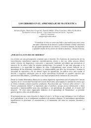 los errores en el aprendizaje de matemática - Sociedad Argentina ...