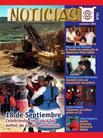 QB Noticias N° 52 - Quebrada Blanca