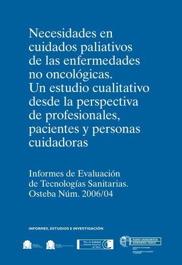 Necesidades en cuidados paliativos de las enfermedades no ...