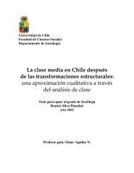 La clase media en Chile después de las transformaciones - Tesis ...
