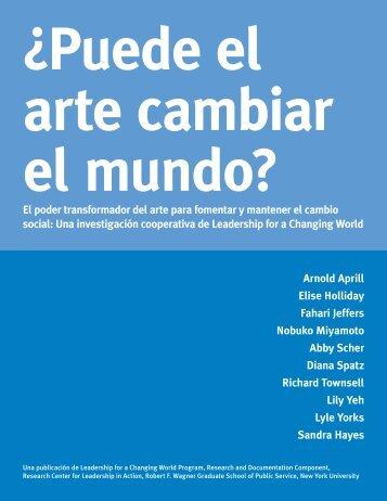 ¿Puede el arte cambiar el mundo? - NYU Wagner - New York ...