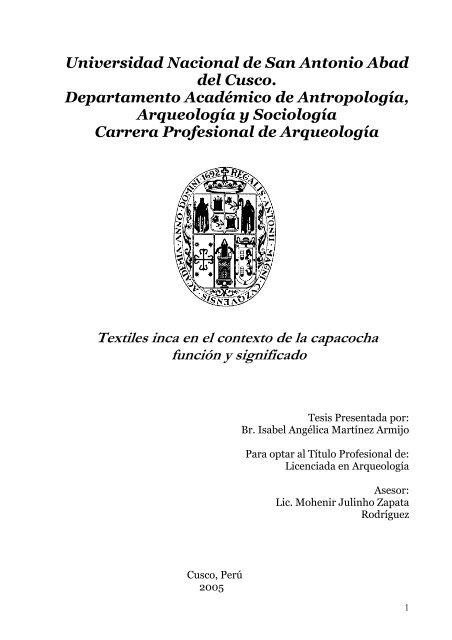 Textiles Inca En El Contexto De La Capacocha Función Y