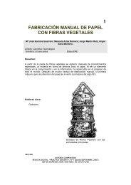 1 fabricación manual de papel con fibras vegetales - Centro del ...