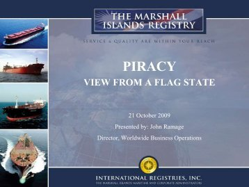 PIRACY - Marshall Islands Ship and Corporate Registry
