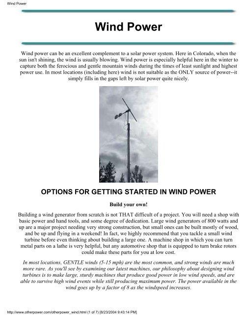 Wind Power Zetatalk