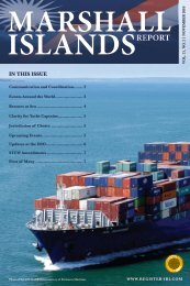 IN THIS ISSUE - Marshall Islands Ship and Corporate Registry