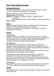 Das Gewaltbarometer - Realschule Nienburg