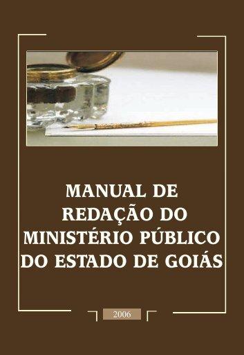 Manual de Redação do MP-GO - Ministério Público do Estado de ...