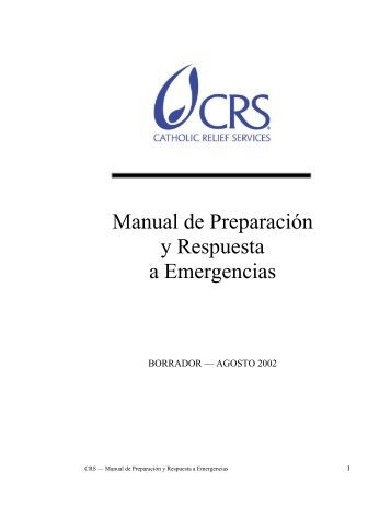 Manual de Preparación y Respuesta a Emergencias - ATS ::: Chile
