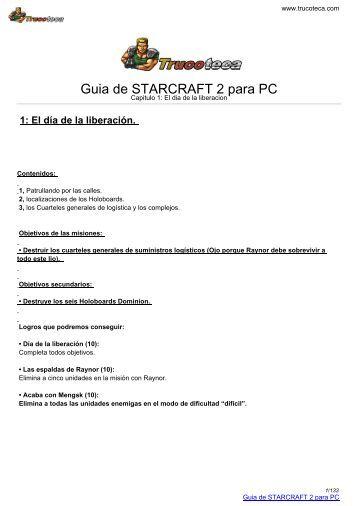 Guia de STARCRAFT 2 para PC - Trucoteca.com