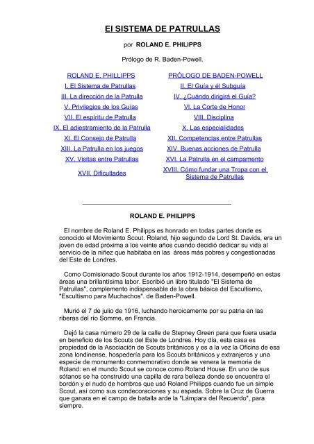 Phillips Roland El Sistema De Patrullas Comisión