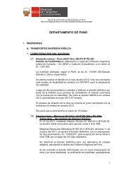 DEPARTAMENTO DE PUNO - Provias Nacional