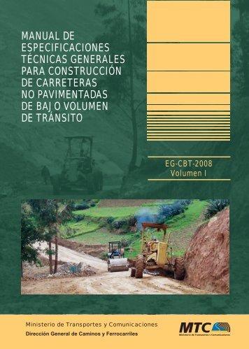 Manual de Especificaciones Técnicas Generales para Construcción