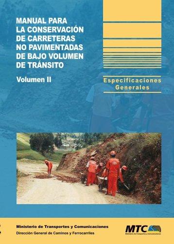 Volumen II - Ministerio de Transportes y Comunicaciones
