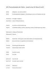 GFS-Themenbeispiele der Fächer - Realschule Plochingen