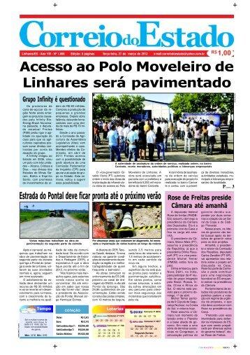 Acesso ao Polo Moveleiro de Linhares será pavimentado