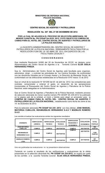 Ministerio de defensa nacional policia nacional for Ministerio policia nacional