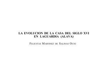 La evolución de la casa del siglo XVI en Laguardia (Alava)