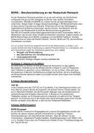BORS - Jahresprogramm - Realschule Remseck