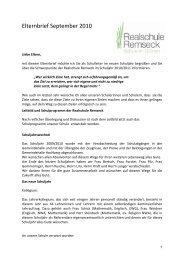 Elternbrief September 2010-2 - Realschule Remseck