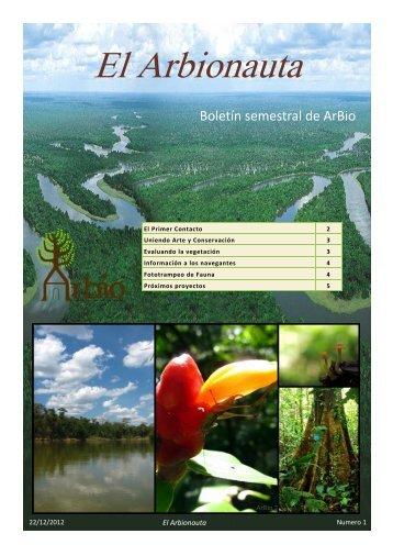 Primer Boletín de Arbio, Diciembre 2012 - Analog Forestry Network