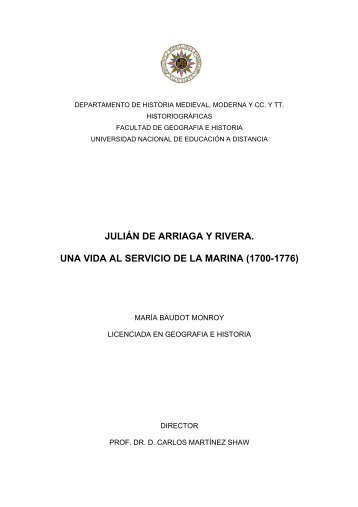 JULIÁN DE ARRIAGA Y RIVERA. UNA VIDA AL ... - e-Spacio - UNED