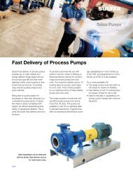 Fast Delivery of Process Pumps - Sulzer