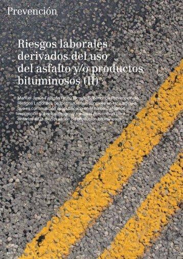 Riesgos laborales derivados del uso del asfalto y/o productos ...