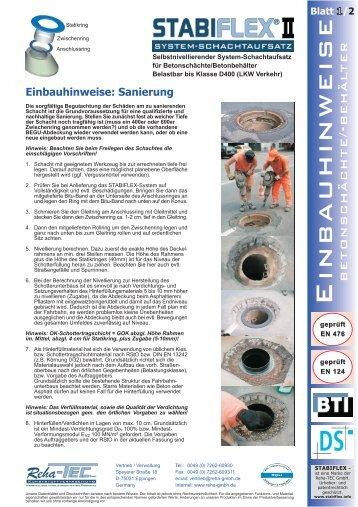 Einbauanleitung - Reha GmbH
