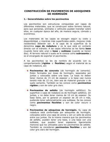 Manual para uso adoquin piera eco cer mica - Adoquines de hormigon ...
