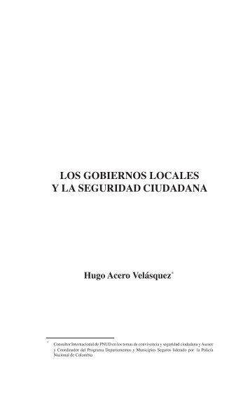 LOS GOBIERNOS LOCALES Y LA SEGURIDAD CIUDADANA