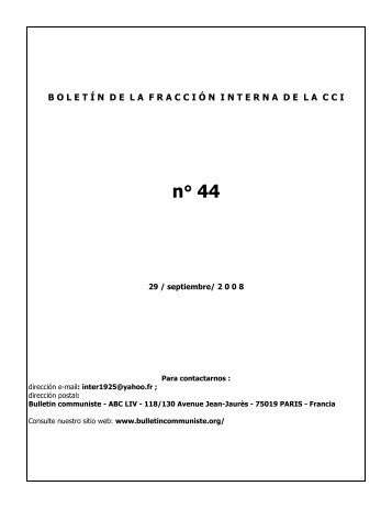 Boletin comunista 44 - Fraction de la Gauche Communiste ...