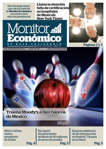 Truena Moody's a diez bancos de México - Monitor Económico