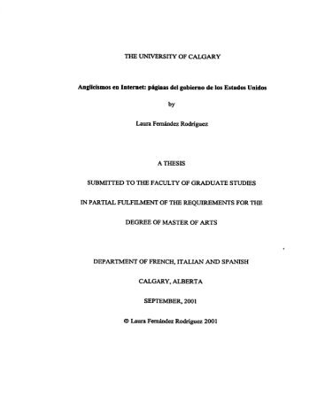 DEGREE OF MASTER OF ARTS - Bibliothèque et Archives Canada
