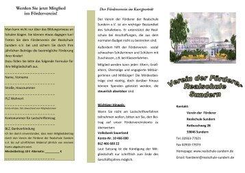 Förderverein RSS - Städtische Realschule Sundern