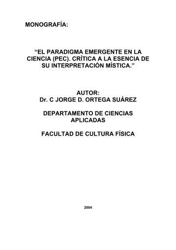 """""""EL PARADIGMA EMERGENTE EN LA CIENCIA (PEC). CRÍTICA A ..."""