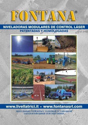 Niveladoras modulares de control láser - FONTANA srl