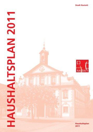 Stadt Rastatt Haushaltsplan 2011