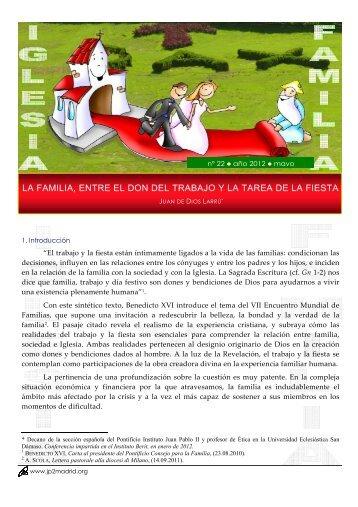 La familia, entre el don del trabajo y - Pontificio Instituto Juan Pablo II