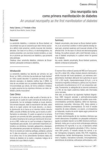 neuropatía del plexo lumbosacro diabetes