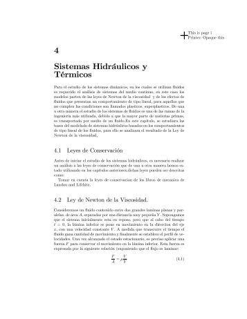 4 Sistemas Hidráulicos y Térmicos - Biotecnologia.upibi.ipn.mx