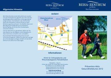 Anfahrt Informationen Allgemeine Hinweise - Reha-Zentrum am Meer