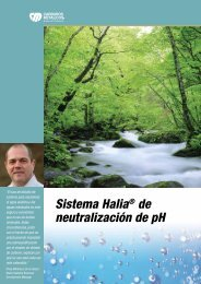 Sistema Halia® de neutralización de pH - Carburos Metálicos