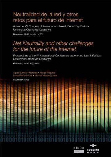 Neutralidad de la red y otros retos para - Repositori institucional ...