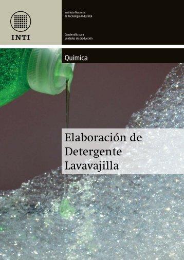 Elaboración de Detergente Lavavajilla - Inti