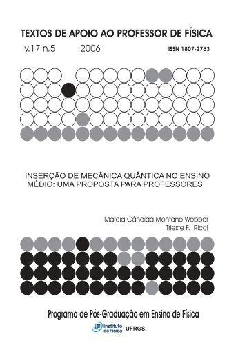 Inserção de Mecânica Quântica no Ensino Médio - Instituto de Física ...