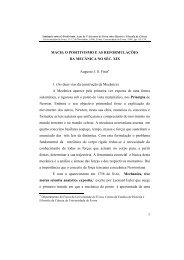 Mach: o positivismo e as reformulações da mecânica no séc. XIX