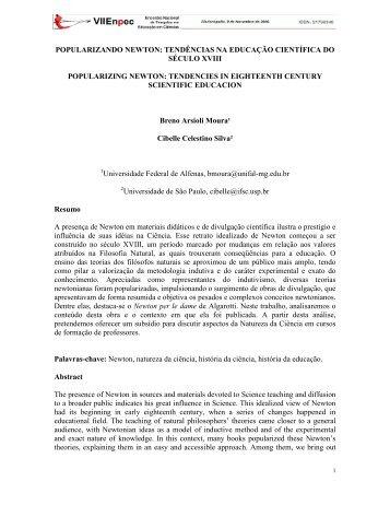 tendências na educação científica do século xviii - FaE