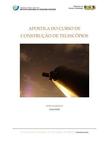 apostila do curso de construção de telescópios - Divisão de ...