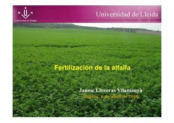 Abonado de la alfalfa